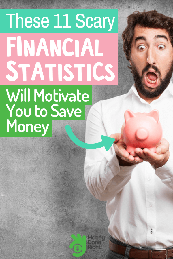 Do you need motivation to get your finances on the right track? Well, these financial stats just might be what you need to start sorting things out. #financialstats #keepyourfinancesontrack