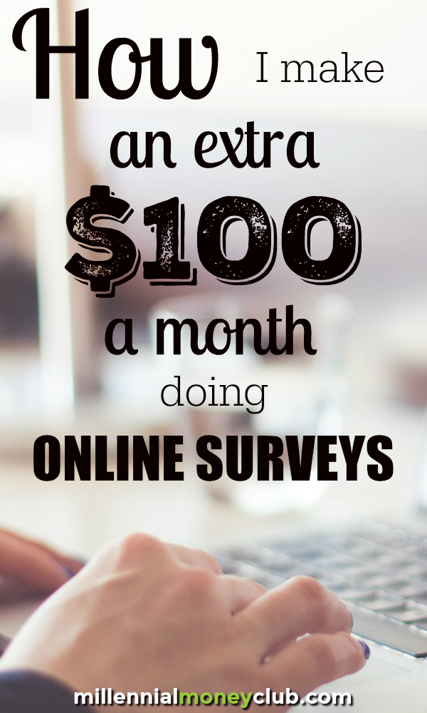 I make about $100/month taking online surveys. That comes out to $1,200 a year and $12,000 over 10 years! Here are my picks for the best online survey sites. 🤑