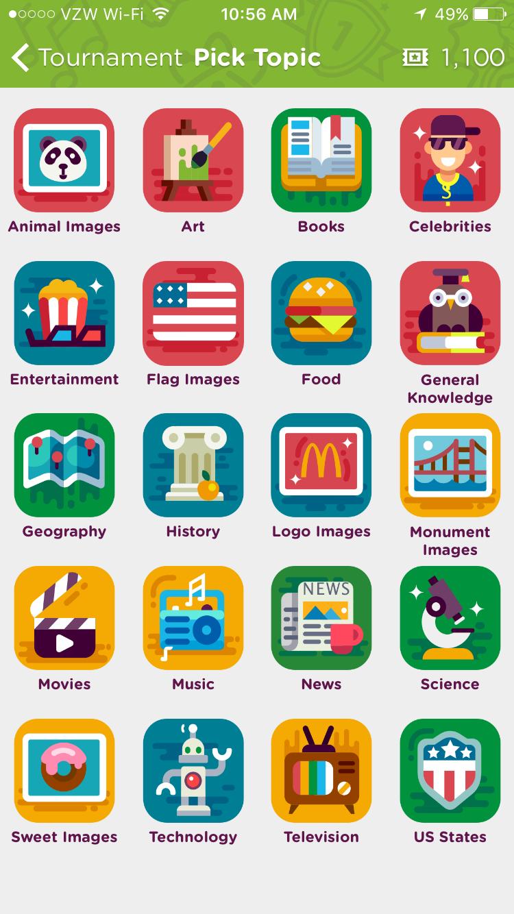 Trivia Categories