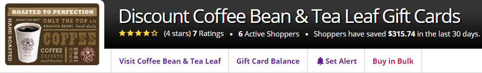 How to Buy Discount Coffee Bean & Tea Leaf Gift Cards