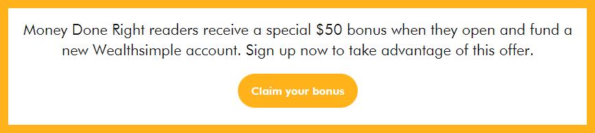 WealthSimple $50 Account Bonus