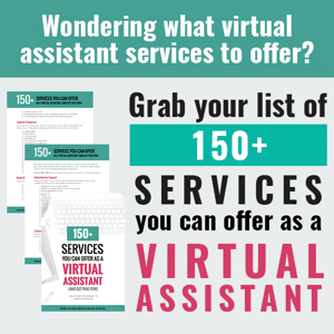 Virtual Assistant Possible Services