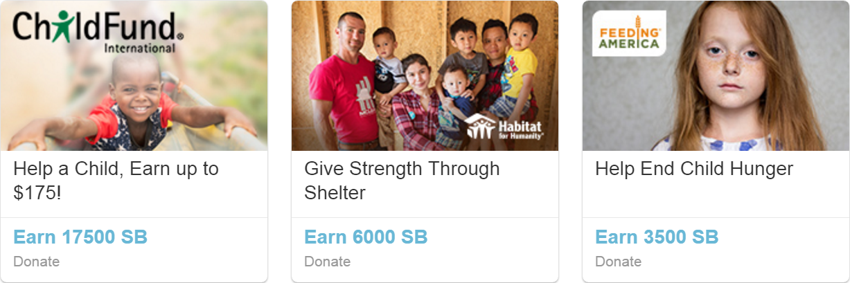 Swagbucks Give to Charity