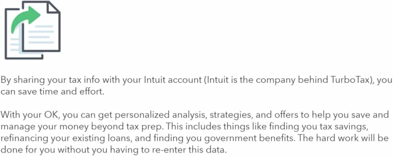 Share Tax Information with Intuit
