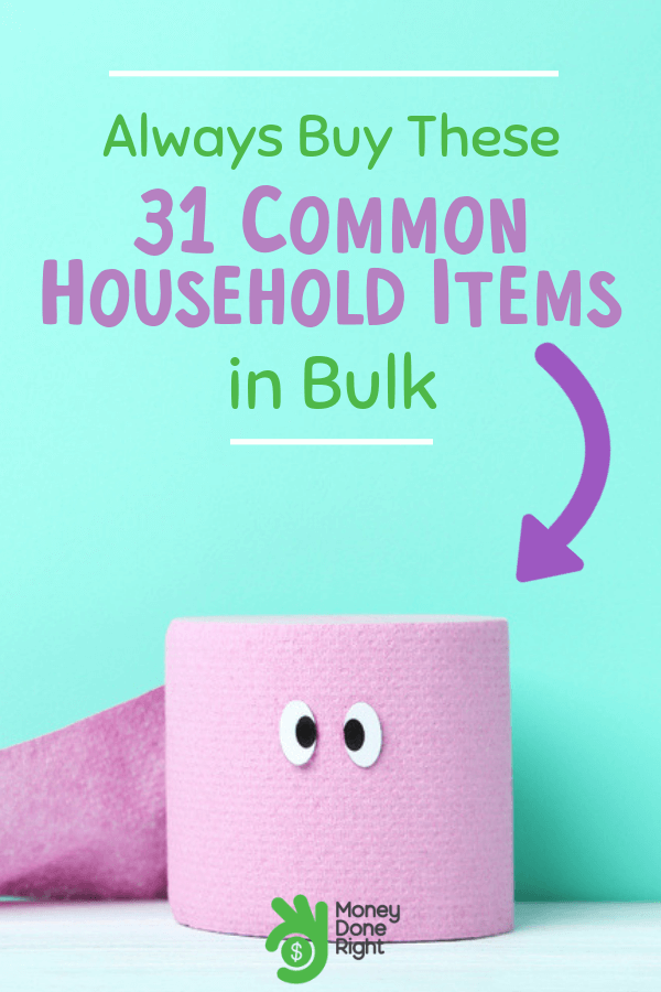 If you're living economically, then you should know that one of the greatest rules is to buy in bulk and save money. So if you want to know what items you should buy in bulk, then here are some common household items for you. #buyinbulk #savemoney