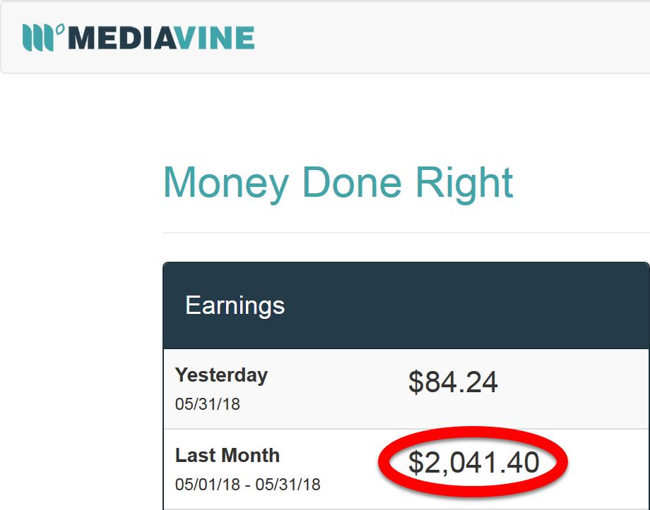 Blog Advertising Revenue May 2018