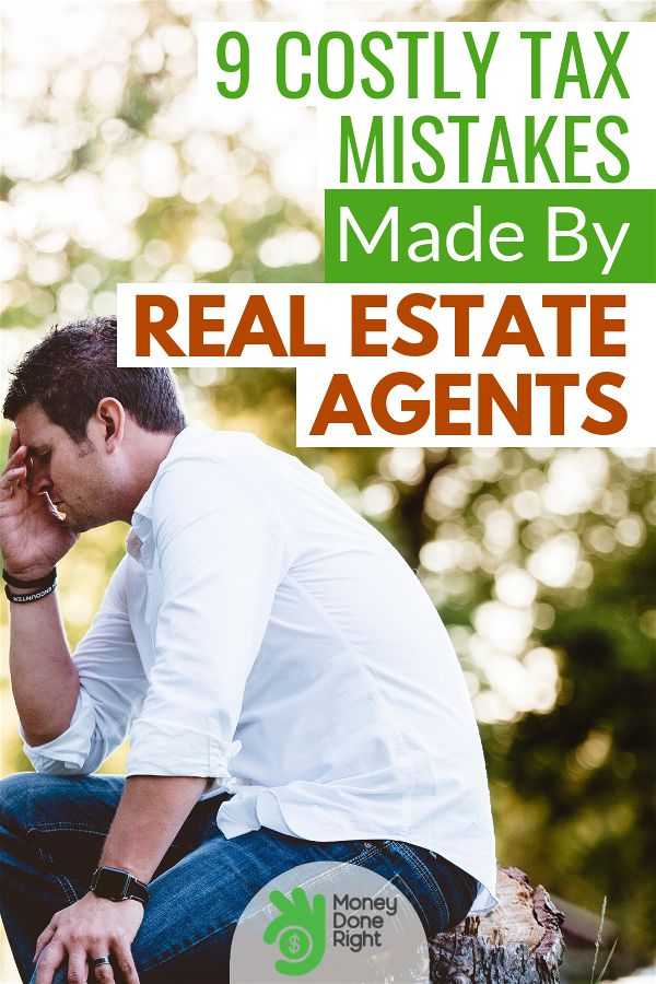 The following tax mistakes are both critical and costly for a real estate agent. #realestateagent #toptaxmistakesrealestateagentsmake