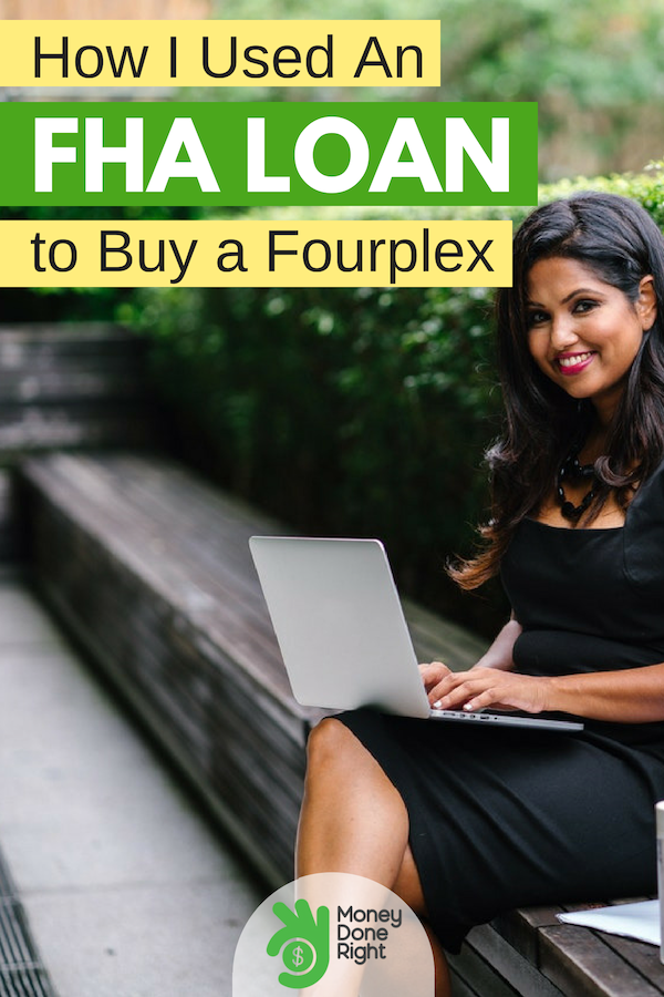 Thinking about house hacking real estate? Read about how I got an FHA loan with only 3.5% down to buy a fourplex in the Los Angeles area. #HouseHacking #Real Estate