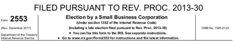 Filed Pursuant to Rev. Proc. 2013-30