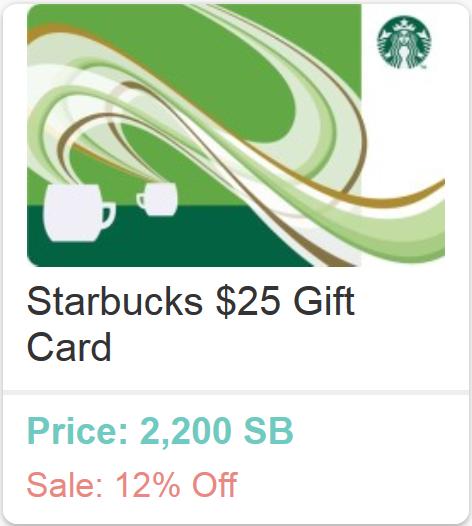 Free Starbucks Gift Card Swagbucks