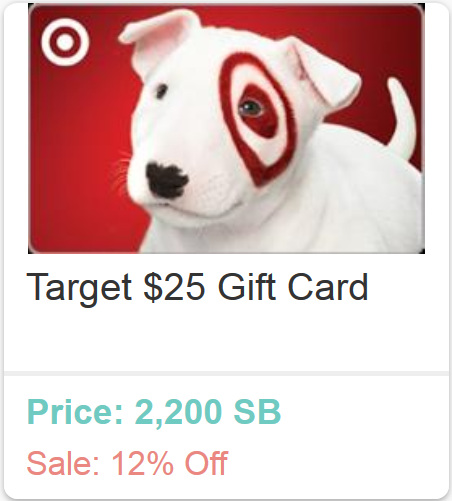 Free Target Gift Card on Swagbucks