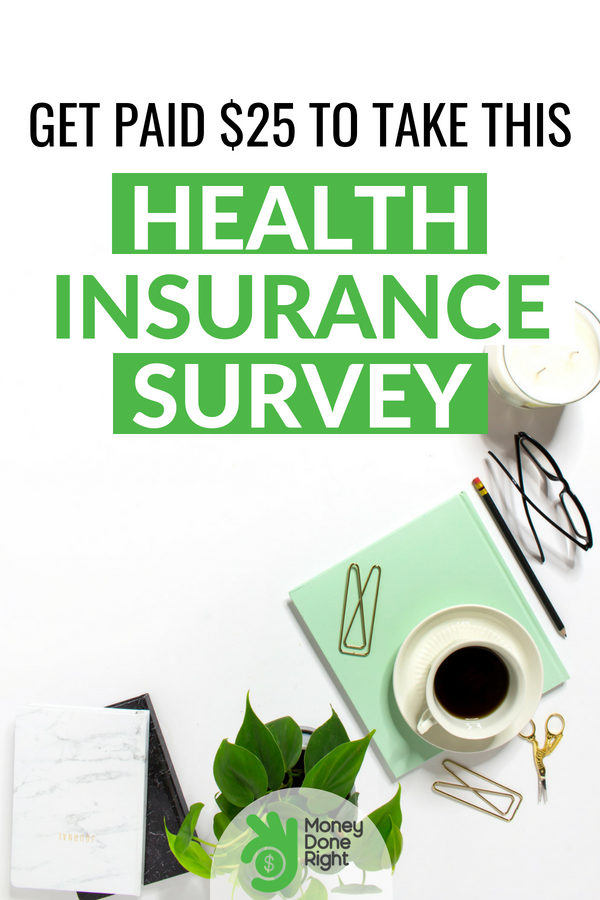 This 5-minute survey will let you earn $25 immediately. Easy right? Give it a read and learn how I did it. #healthinsurancesurvey #survey