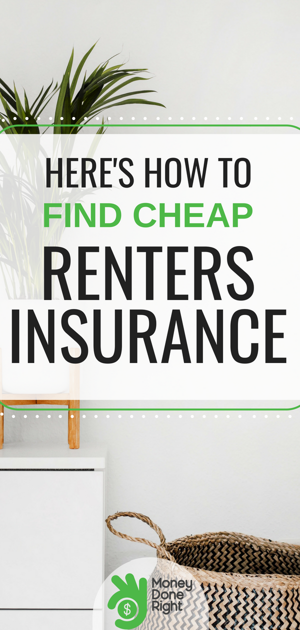 Renters insurance is an unfortunate necessity, but it's possible to get it for as low as $5/month using one of these companies. | #renter #rentersinsurance #p2p #cheapinsurance #liabilitycoverage