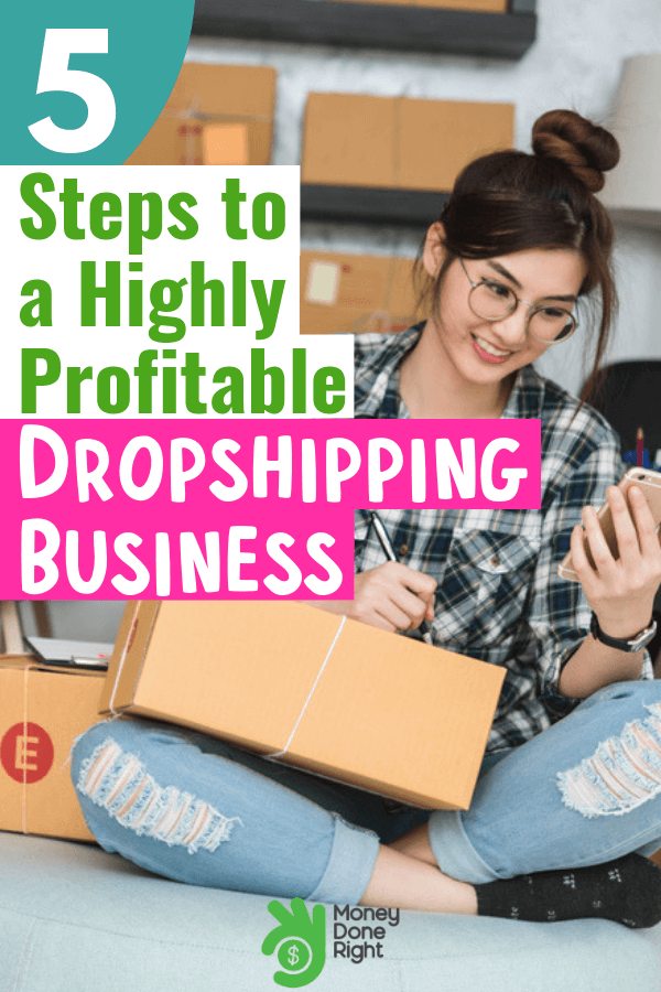 You don't need to rent a fancy office space to start a dropshipping business. All you need are these 5 easy steps and you're off to build a very good income stream. #dropshipping #dropshippingguide