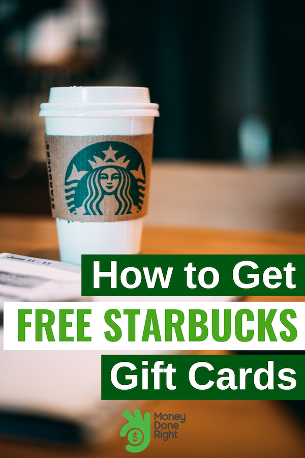 Starbucks gift cards for free! Yes, it's true! Check out this article to learn our tips and tricks to get free Starbucks gift cards. #StarbucksGiftCards #FreeStuff