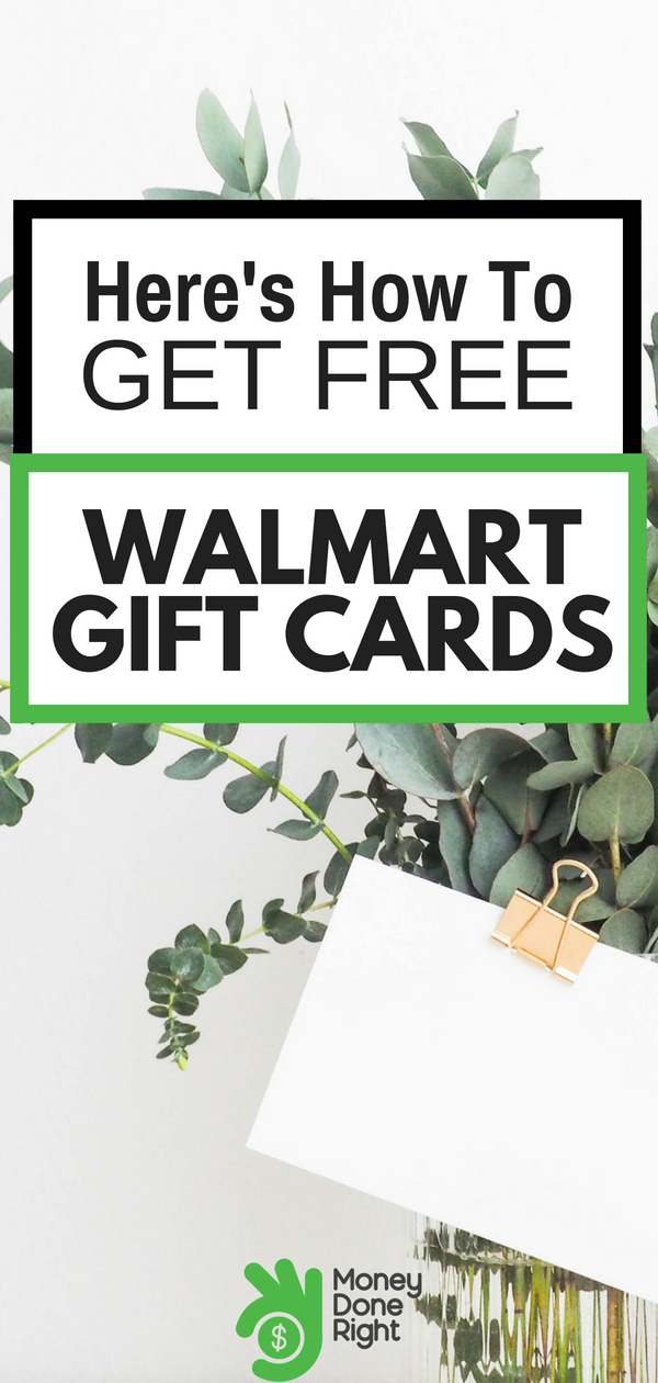How do free Walmart giftcards sound? Good news! There are three different ways to earn them! And they're super simple. | #freemoney #walmart #giftcards #freegiftcards