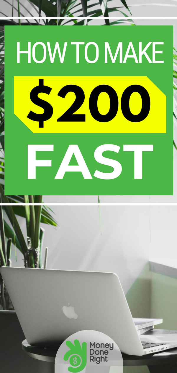 If you're in a bad spot and need $200 fast but aren't ready ro sell your body just yet, we've got your back. Here are some options. | #money #fastcash #financialemergency
