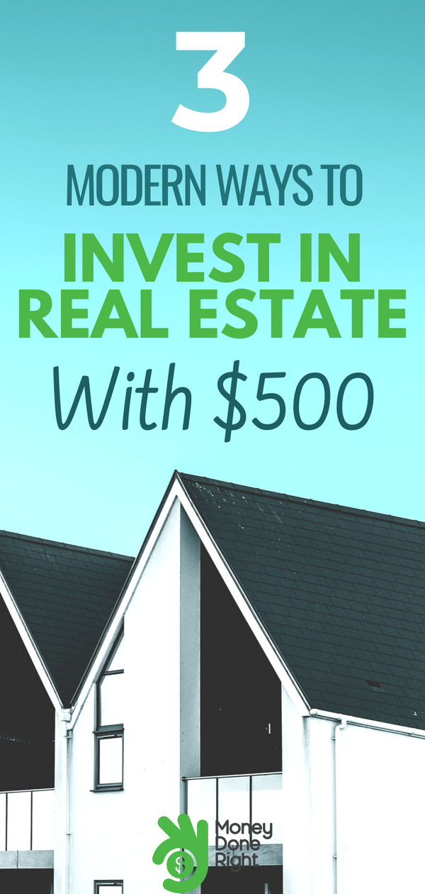 You might not realize it, but you can actually invest in real estate with $500-$1000. Yep, you read that right. Here are the top 3 ways to do it! | #investments #realestate #personalfinance