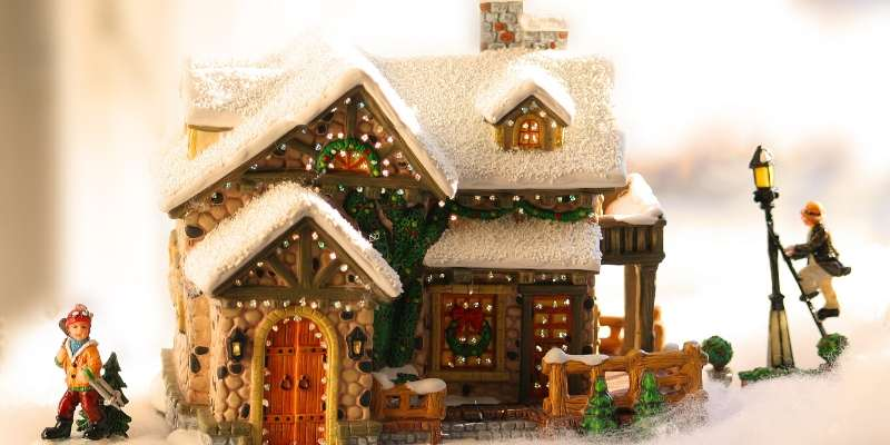 Light-Up Ceramic Holiday Decorations and Ornaments