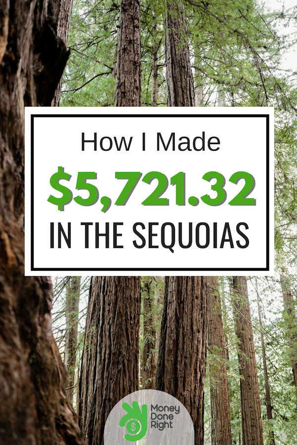That's $5,721.32 while I was traveling in the Sequoias for 6 days. Let me share with you how I was able to make that much while on that trip. #makemoneywhiletraveling #makemoneytips