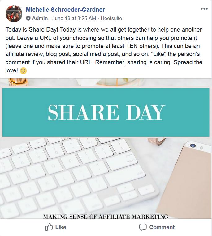 Making Sense of Affiliate Marketing Share Day
