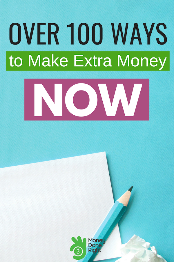 Extra money is always welcomed. We've got over a hundred ways on making that extra money we all want and need. #waystomakeextramoney #extramoney