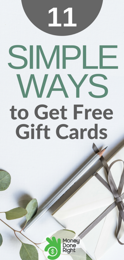 Want free gift cards but don't want to spend hours on the Internet searching? We got you. Here are 11 easy things you can do right now to get cheap and free gift cards. | #giftcards #freemoney #deals