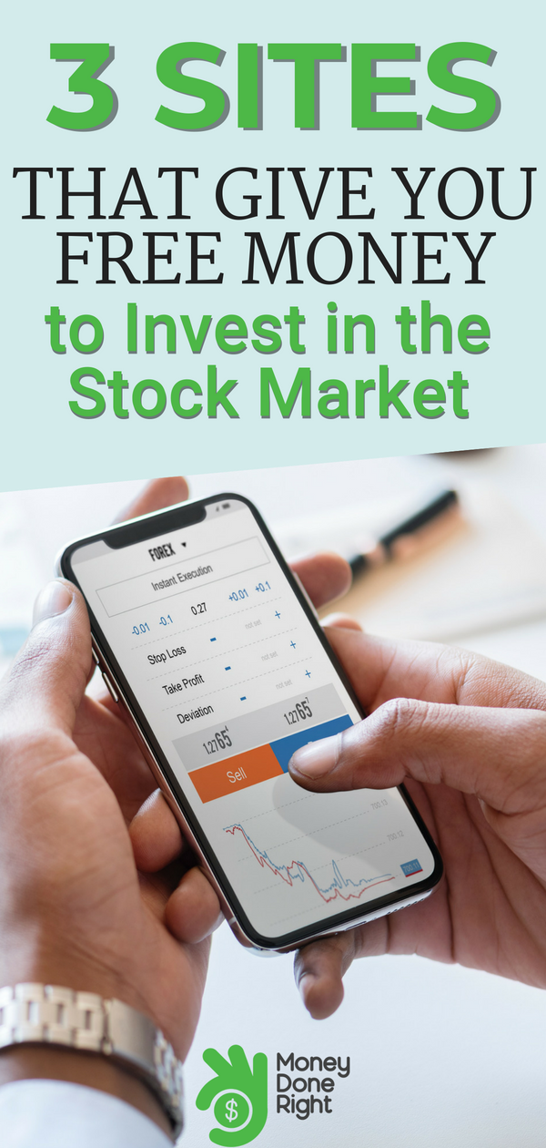Fun fact: There are companies out there that will give you free money to invest in stocks. Here are three of them! | #freemoney #stocks #investing #personalfinance #passiveincome