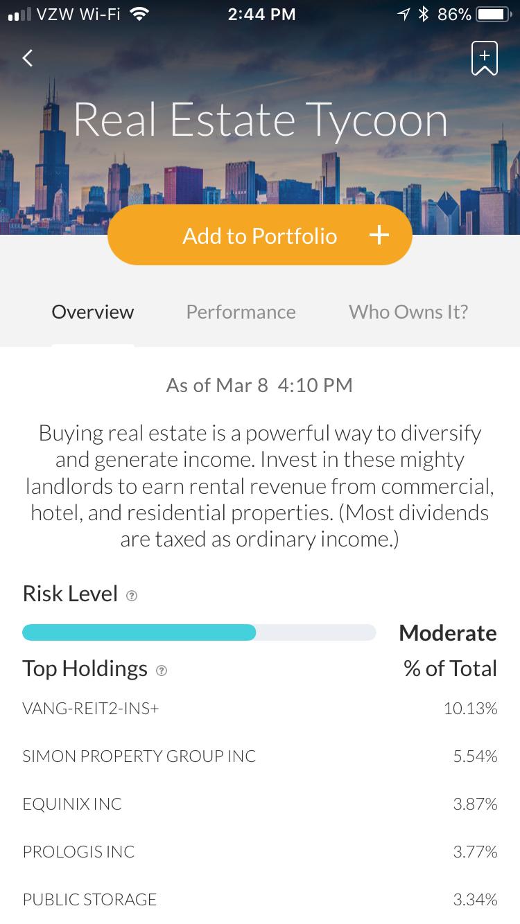 Stash App Real Estate Tycoon Portfolio