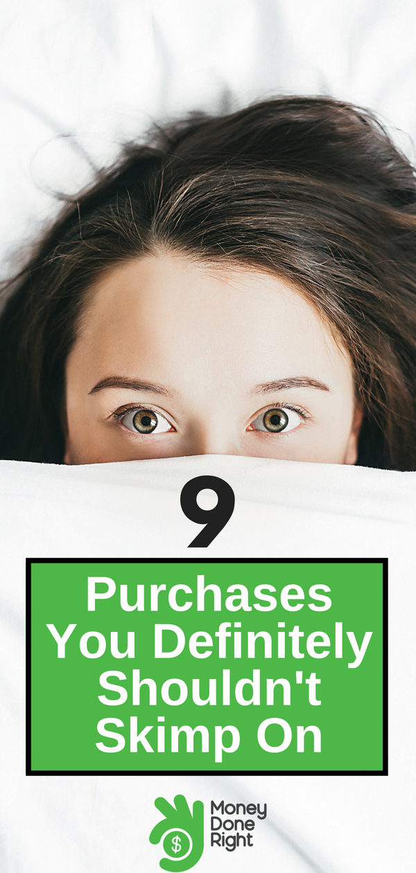 Cheaper isn't always better. Here are some purchases you shouldn't skimp on, because your health is important. | #personalhealth #finances #lifestyle
