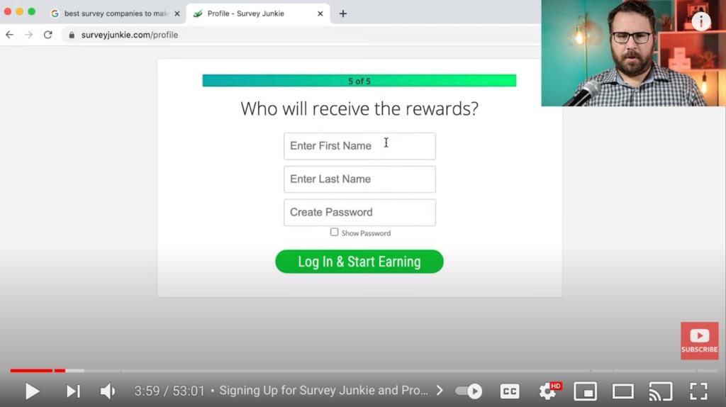 Survey Junkie Initial Survey