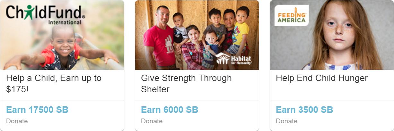 Swagbucks Give to Charity