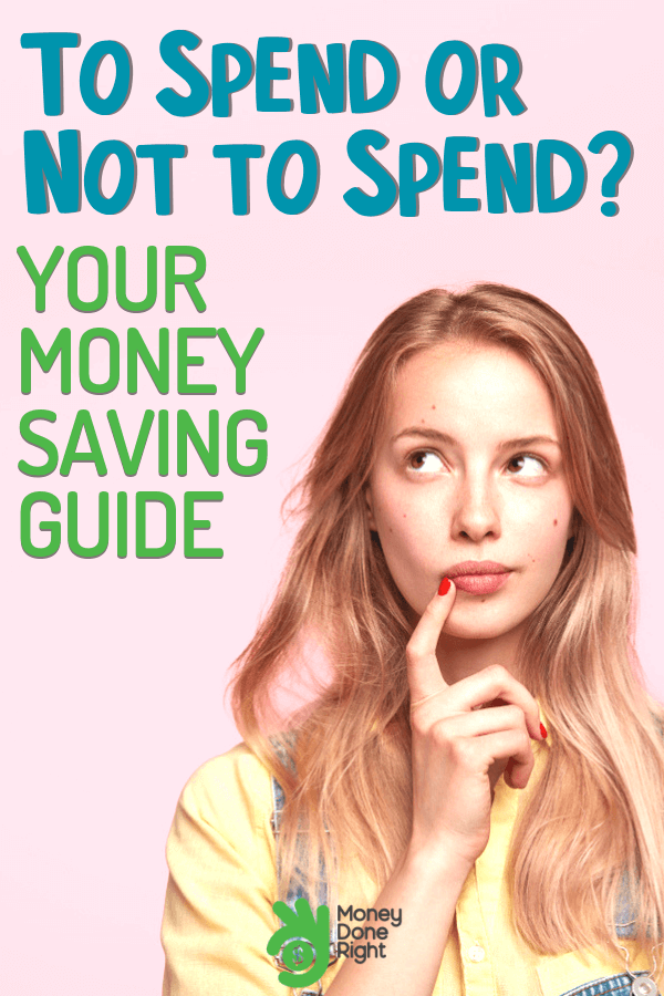 Are you running out of money the day after receiving your paycheck? Have full control over your money and learn when to spend or not. #fullcontrol #whentospendornot