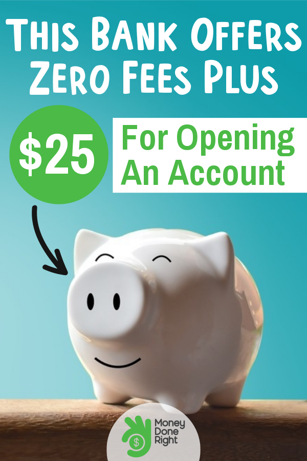 Bank fees are a pain in the head so just imagine how happy I was when I found this bank that charges NO FEES and gives you $25 to open an account with them. #bankfees #nomorebankfees