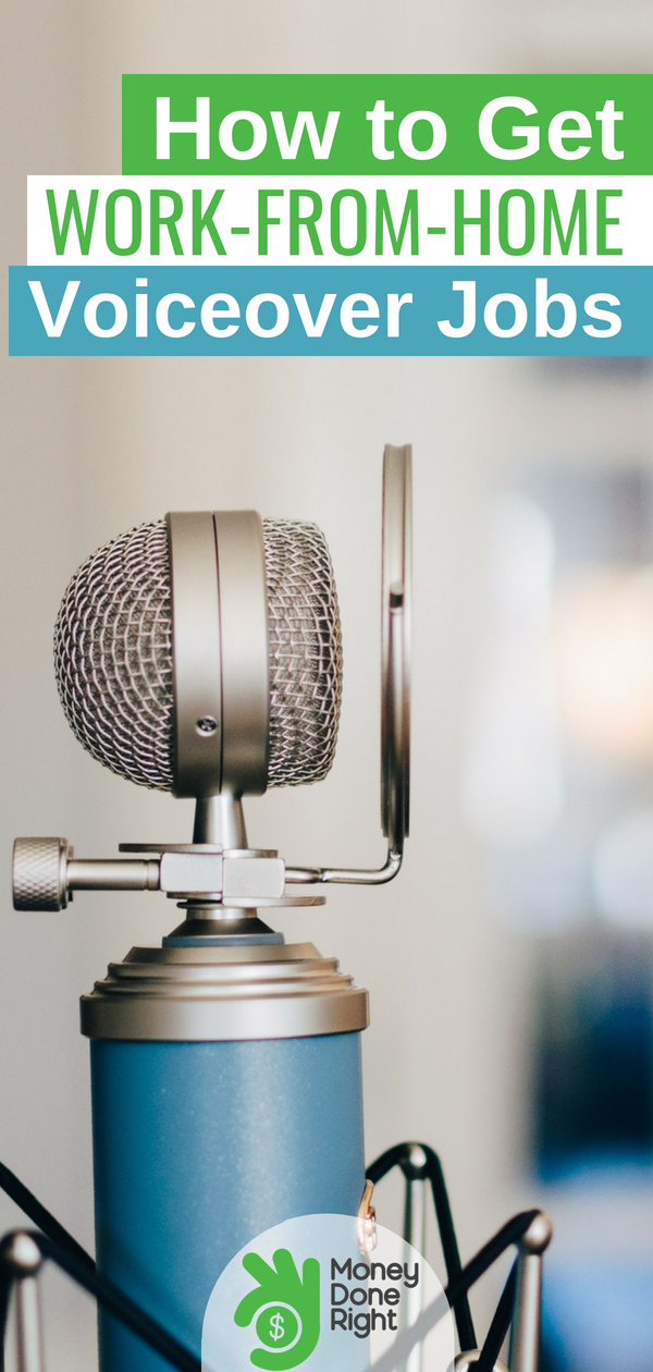 If you don't mind being recorded, you're a great candidate for one of the many voice over jobs out there right now. The best part? You can record from home. | #voiceovers #workfromhome #sidehustle