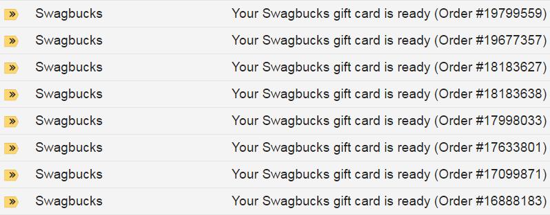 Walmart Gift Cards on Swagbucks