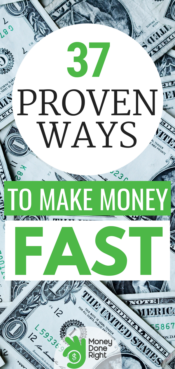 Sometimes life comes at you fast, and you need cash right now. Here are 37 ways to get paid quickly. | #fastcash #personalfinance #money
