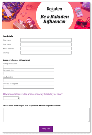 be a rakuten influencer