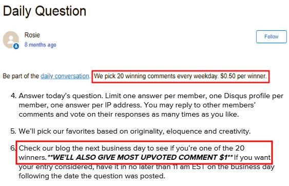 Cash for Surveys Vindale Research - Daily Question