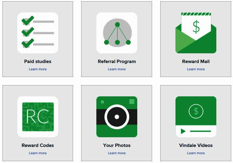 Cash for Surveys Vindale Research - More Ways to Earn