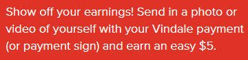 Cash for Surveys Vindale Research - Payment Photo Reward