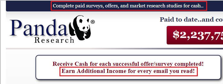 Cash Surveys Panda Research - Claims