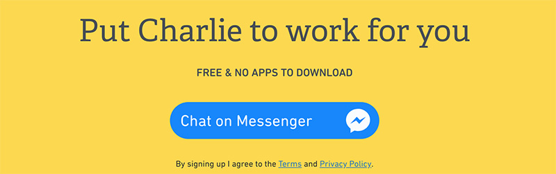 charlie finance chat on messenger