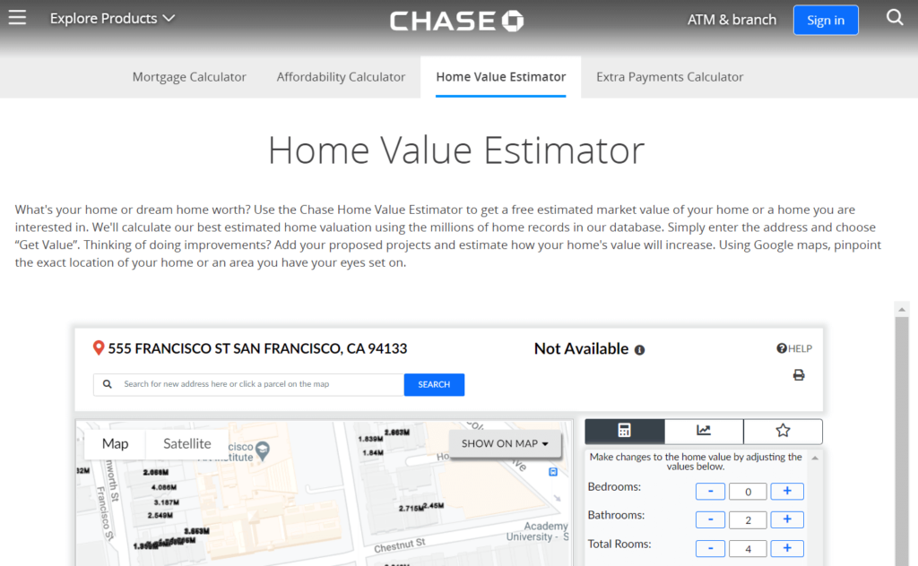 chase home appraisal