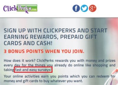 Click Perks Online Surveys