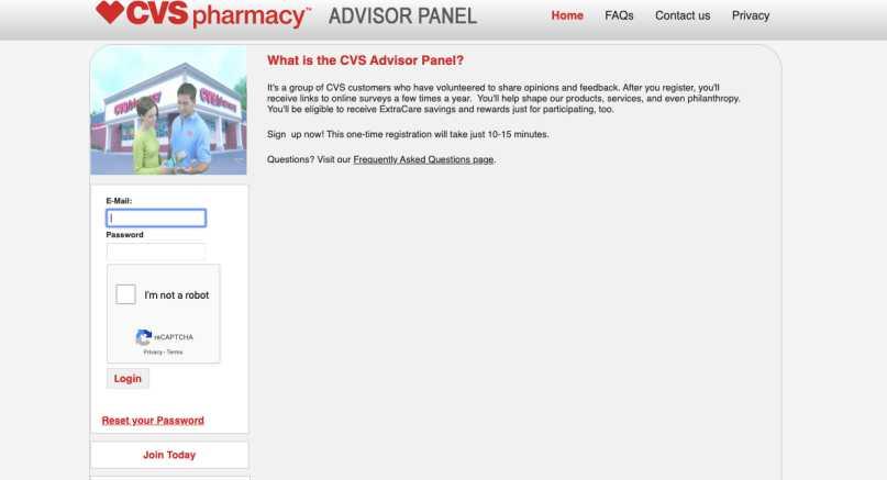 CVS Advisor Panel Review - Home