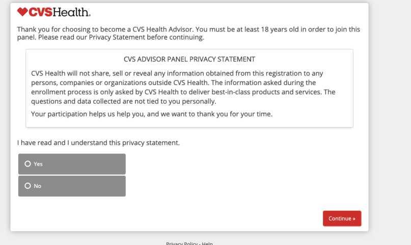 CVS Advisor Panel Review - Privacy