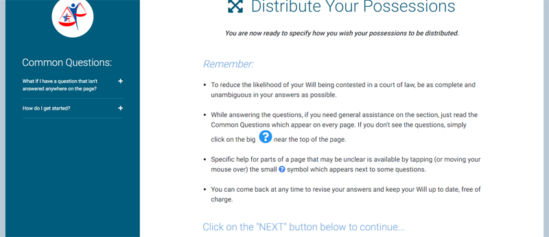 distribute your possessions us legal wills