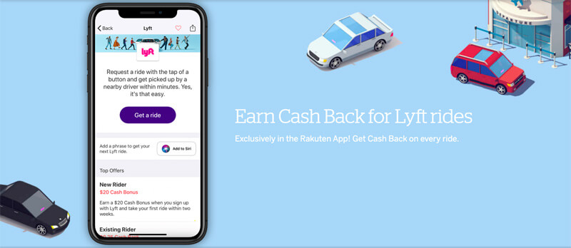 earn cash back for lyft rides with rakuten