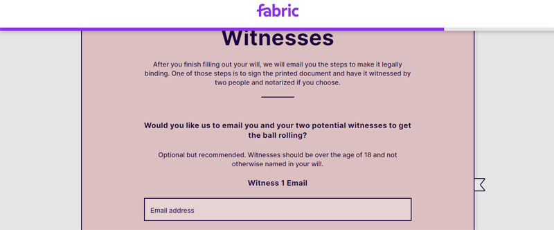 email your will to witnesses
